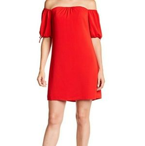 🍓 Rachel Roy red off the shoulder dress